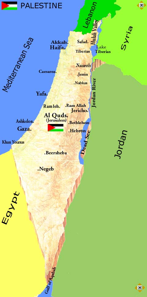 Palestine cities with Al Quds as capital